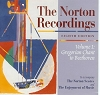The Norton Recordings: Eighth Edition - Volume 1: Gregorian Chant to Beethoven